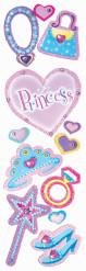 Lot de 12 stickers Princesse