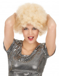 Perruque afro blonde volume femme