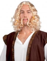 Perruque viking avec moustache homme