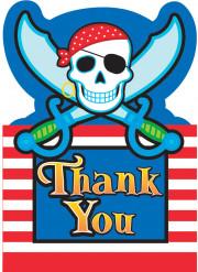 Carte de remerciements pirate