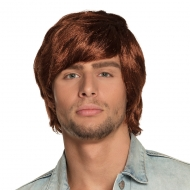 Perruque années 70 rousse homme