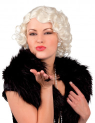 Perruque blonde platine  femme