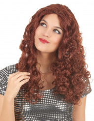 Perruque longue rousse femme