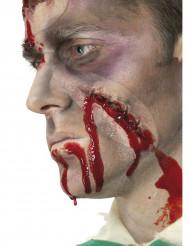Fausse plaie cicatrice mal cousue visage