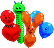 10 Ballons de figurines animaux