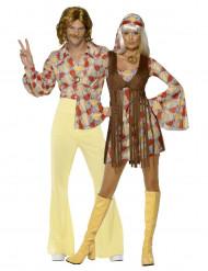 Déguisements de couple hippie années 70