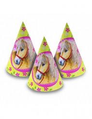 6 Chapeaux Charmants chevaux
