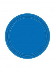 8 Assiettes bleues (Diam. 18 cm)