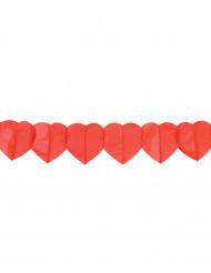Guirlande papier coeurs rouge