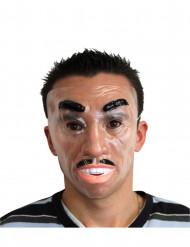 Masque visage homme souriant à moustaches