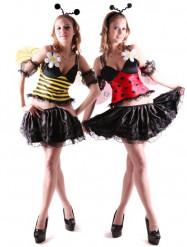 Déguisement reversible abeille et coccinelle femme