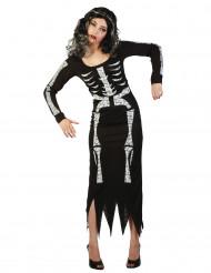 Déguisement squelette long femme Halloween