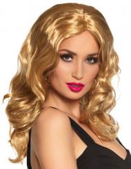 Perruque longue blonde