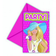 6 cartes d'invitation Barbie Dollicious™