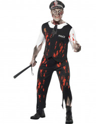 Déguisement zombie policier homme Halloween
