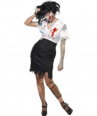 Déguisement zombie secrétaire femme Halloween