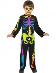 Déguisement squelette coloré garçon Halloween