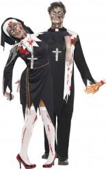 Costume couple religieux zombie Halloween