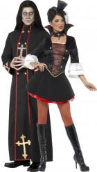 Costume couple moine et vampire Halloween