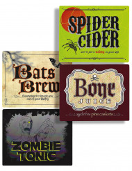 Etiquettes de boisson Halloween