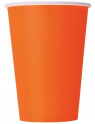 8 gobelets en carton orange