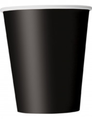 8 gobelets noirs en carton