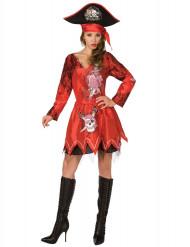 Déguisement pirate femme rouge