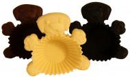 6 Moules à muffins ronds motif chien