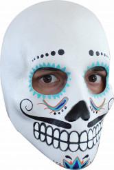 Masque crâne adulte Dia de los Muertos homme à moustaches