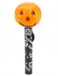 Lampe torche citrouille orange manche décorés Halloween