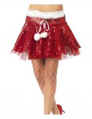 Jupon rouge à paillettes femme Noël
