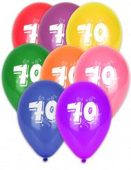 10 Ballons chiffre 70