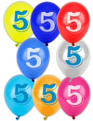 8 Ballons chiffre 5