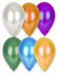 12 Ballons métallisés différentes couleurs 28 cm