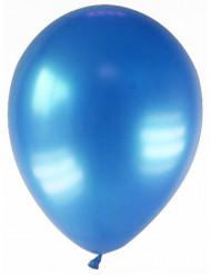 12 Ballons métallisés bleus foncés 28 cm