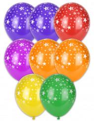 8 Ballons imprimés étoiles