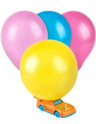 5 Ballons avec pompe voiture