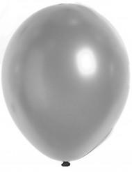 100 Ballons métalliques argentés 29 cm