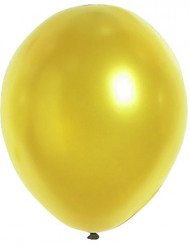 100 Ballons métalliques or 29 cm