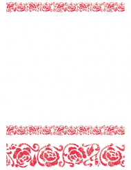 Nappe arabesque rouge