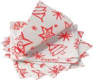 14 Serviettes en papier Chistmas Star rouge 33 x 33 cm