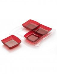 Plateau Puzzle rouge