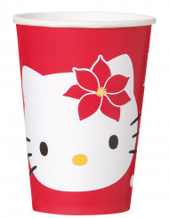 8 Gobelets Hello Kitty™ Noël