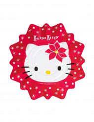 8 Petites assiettes Hello kitty™ Noël (21cm)