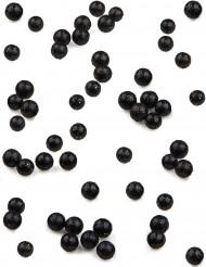 160 Mini boules paillettées noires