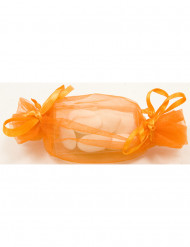 12 Ballotins organza orange