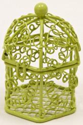 Mini cage à oiseaux vert anis