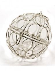 Mini boule de décoration argent
