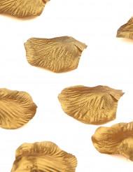 50 Pétales métallisés or