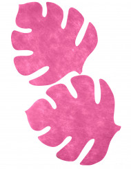4 Sets de table en forme de feuille marron